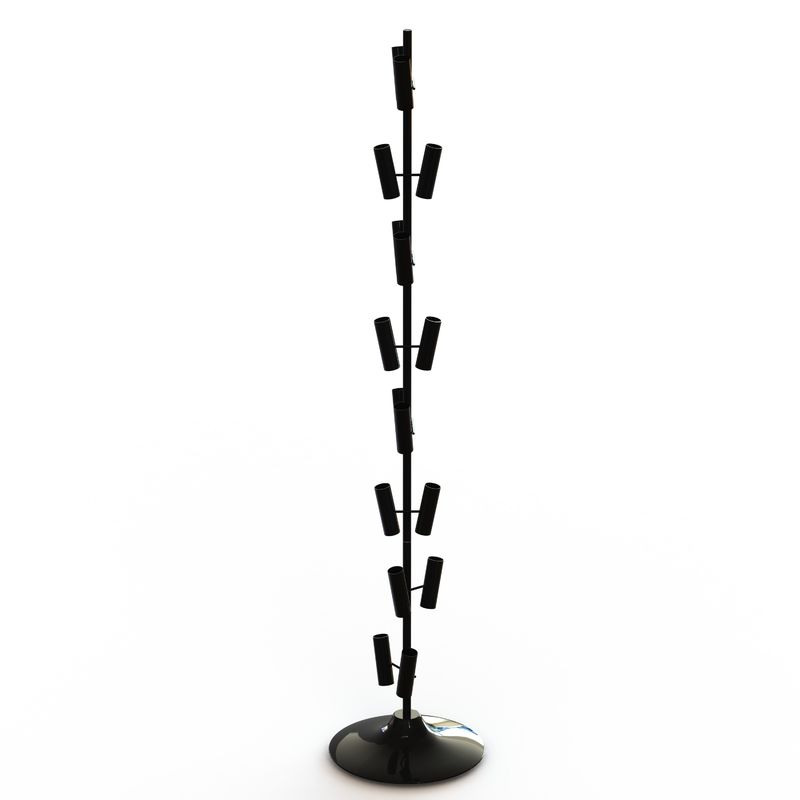 Balloon Metal Display Racks And Stands Heavy Duty Base / 8 Layers Tubular Holder